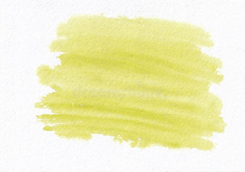 Light yellow watercolor gradient brush strokes. Beautiful abstract background. It`s useful for graphic design, backdrops vector illustration