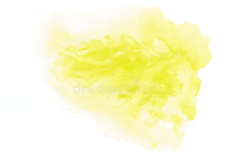 Light yellow watercolour gradient running stain. Beautiful abstract background for designers, mock-ups, invitations vector illustration