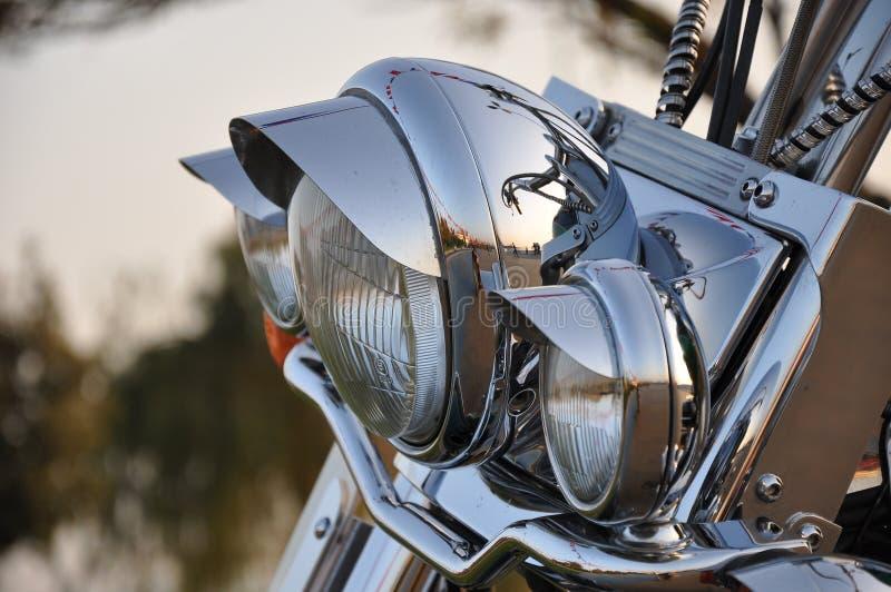 Lightbar on bike stock photo