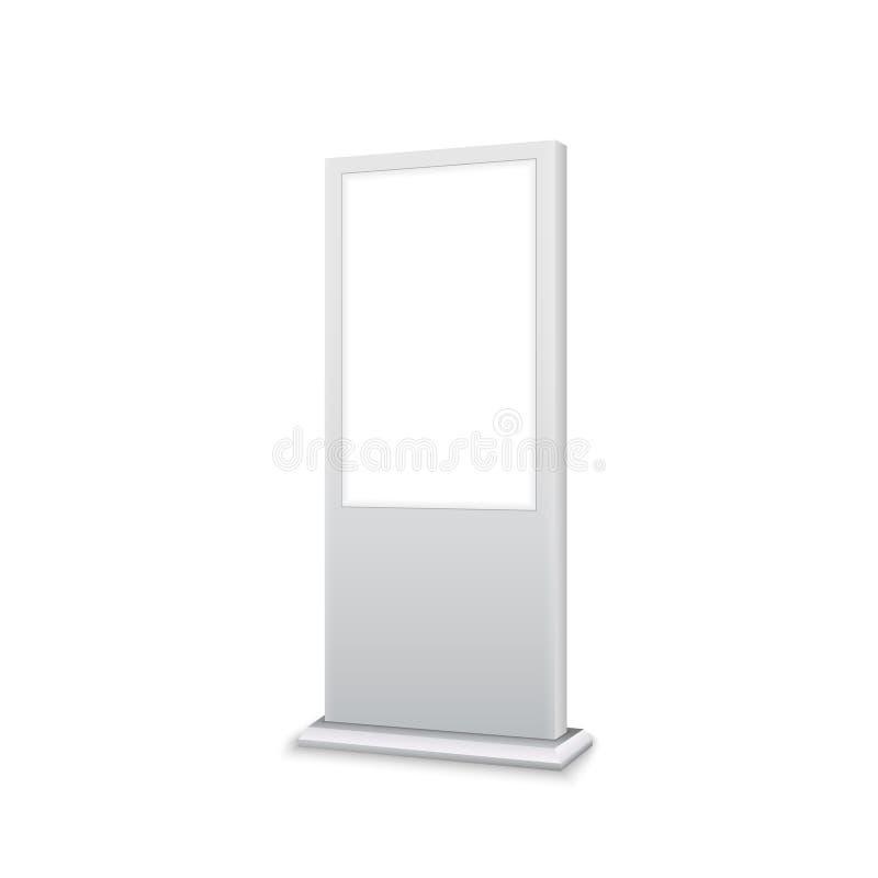 Lightbox de bannière de la publicité de signage de support de Digital Conception d'isolement vide d'otdoor de panneau de vente de illustration stock