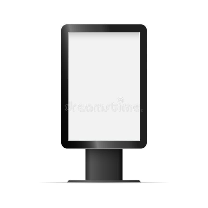 Lightbox extérieur de calibre vide vertical Vecteur photos stock