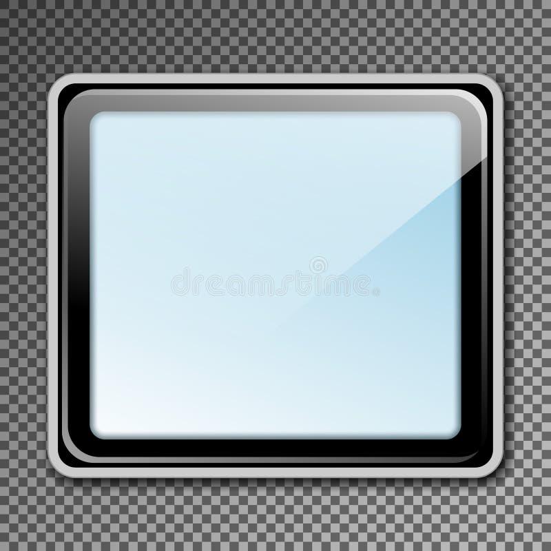 Lightbox exterior do modelo vazio do molde para o anúncio e o corpo ilustração royalty free