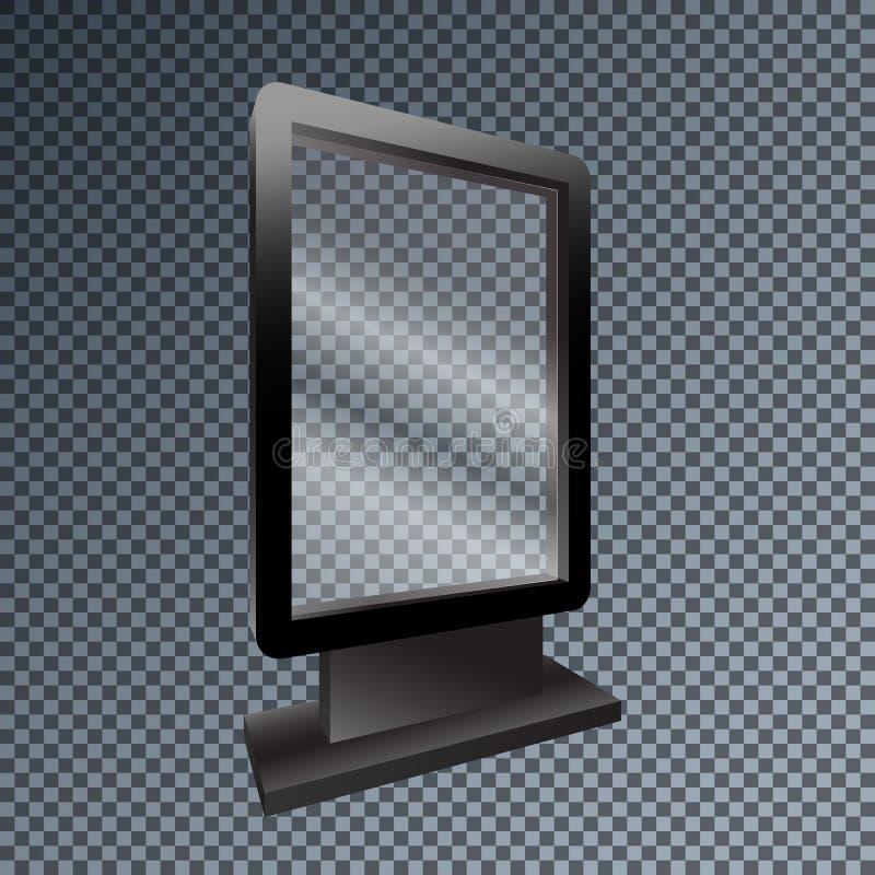 Lightbox exterior do modelo vazio do molde para o anúncio e o corpo ilustração stock