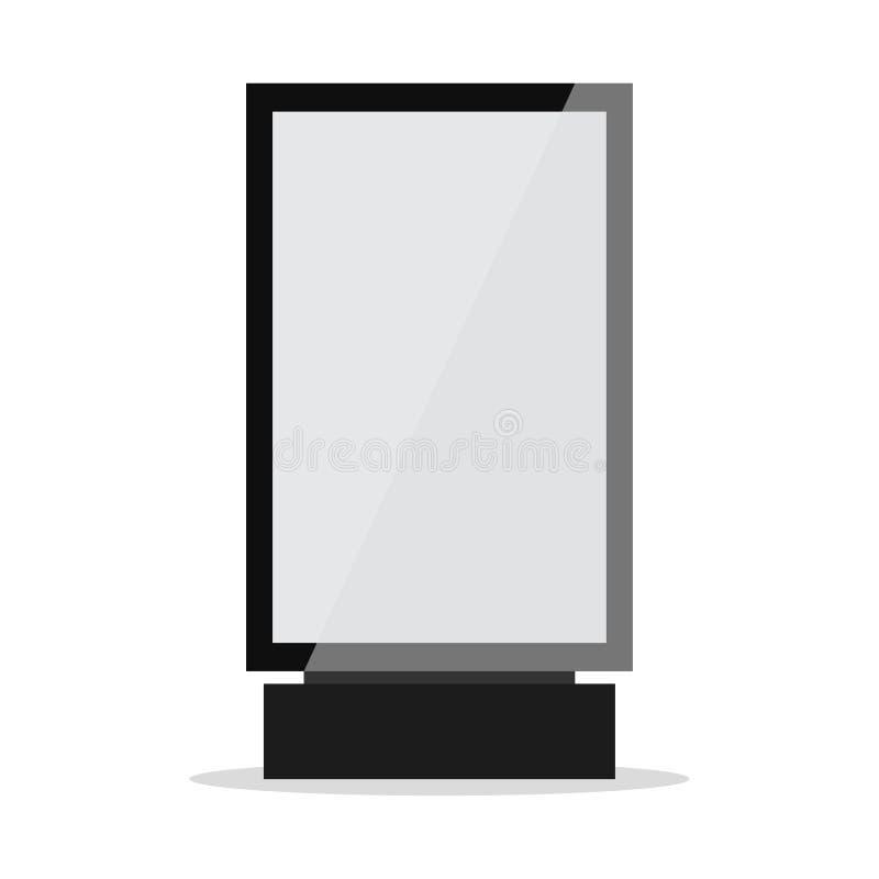 Lightbox ou signage vertical do quadro de avisos e a leve da caixa ilustração stock