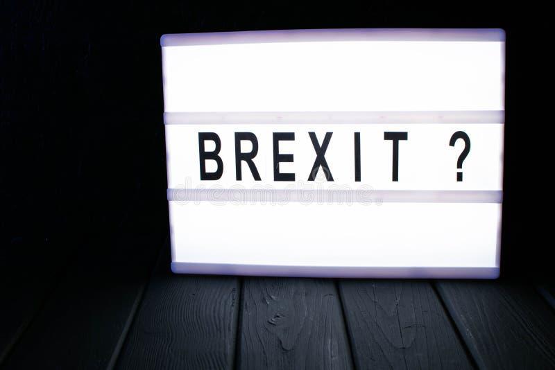 Lightbox z słowa brexit obrazy royalty free