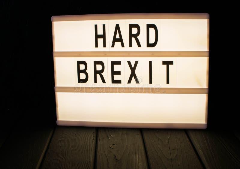 Lightbox z s?owa brexit fotografia stock