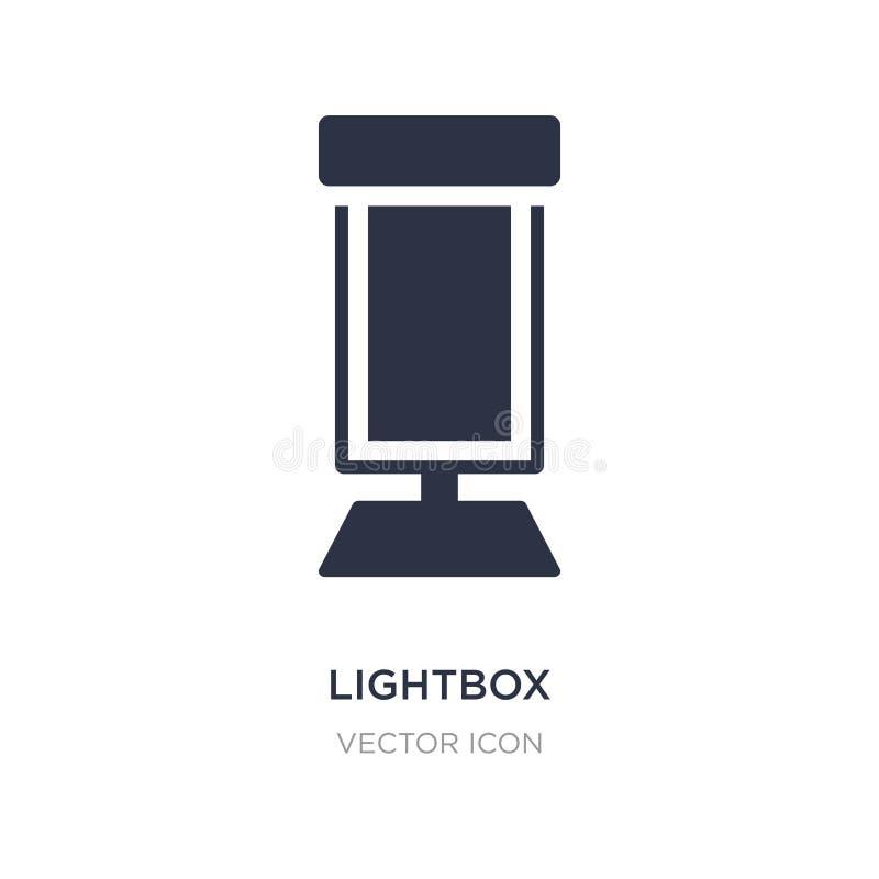 lightboxsymbol på vit bakgrund Enkel beståndsdelillustration från stadsbeståndsdelbegrepp vektor illustrationer