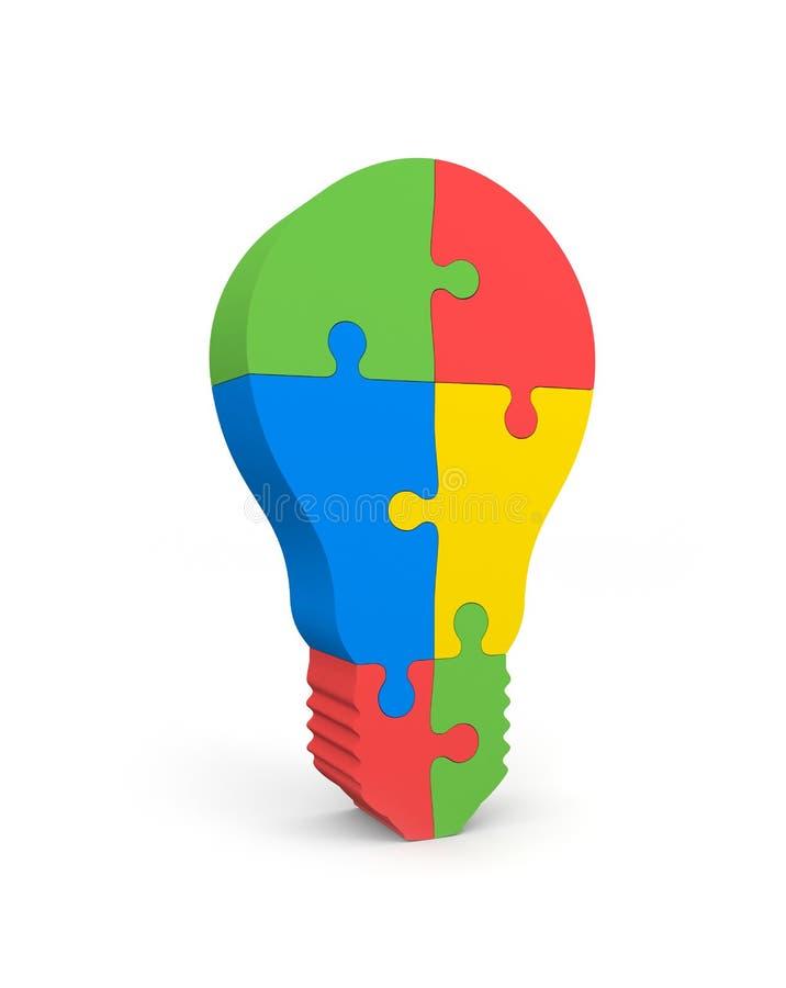 lightbulb łamigłówka ilustracja wektor