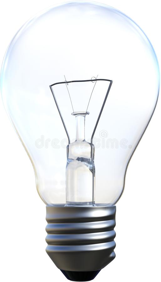 Lightbulb, żarówka, pomysł, Odizolowywający, innowacja obraz royalty free