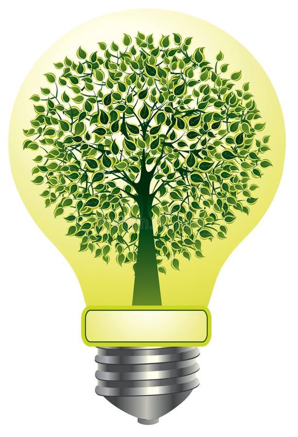 lightbulb δέντρο απεικόνιση αποθεμάτων