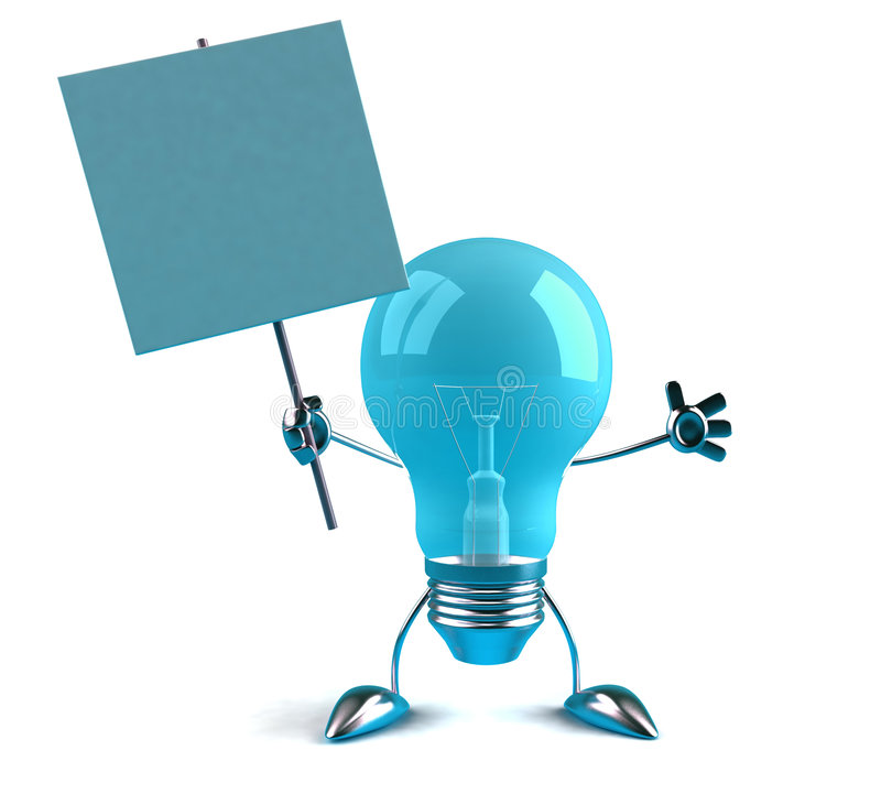 lightbulb σημάδι ελεύθερη απεικόνιση δικαιώματος