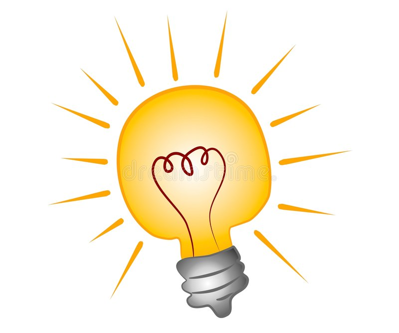 lightbulb зажима искусства яркий иллюстрация вектора