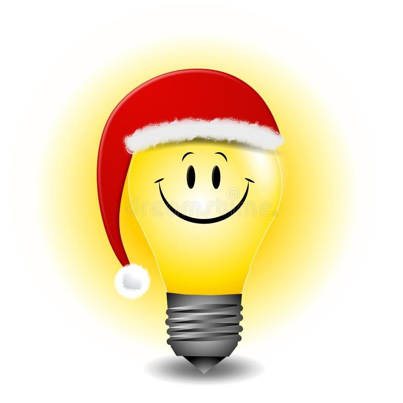 lightbulb рождества шаржа иллюстрация вектора