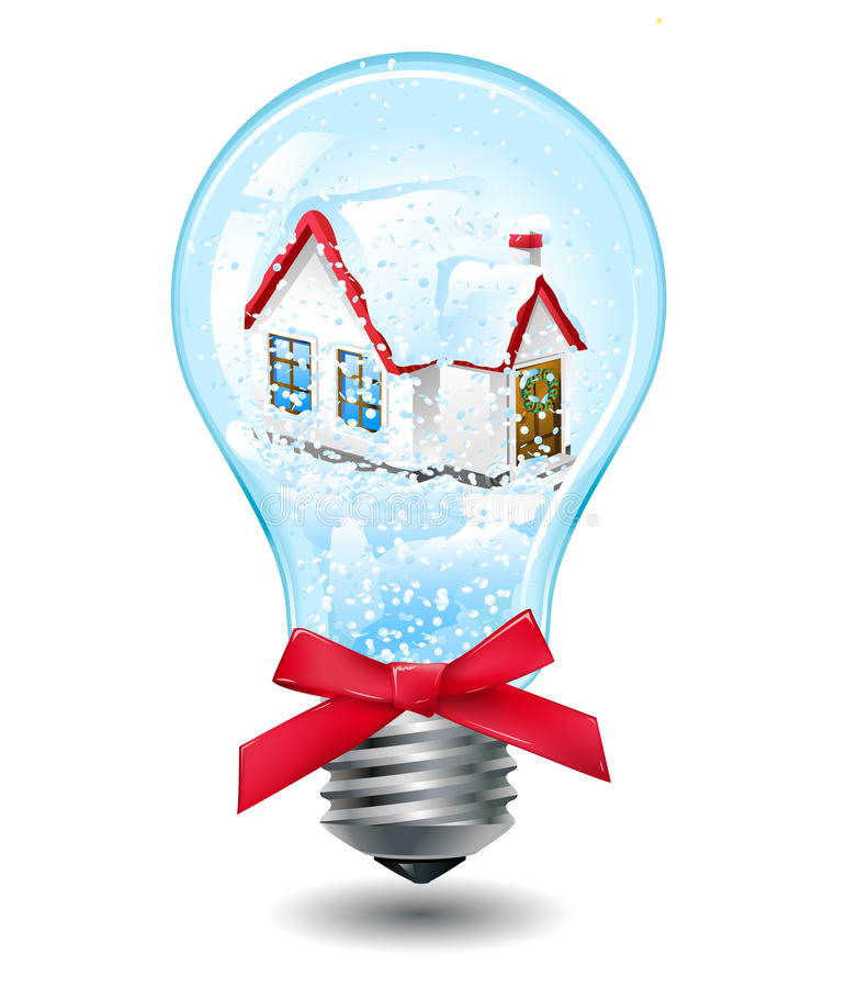 lightbulb рождества иллюстрация вектора
