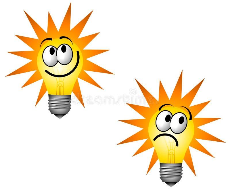 lightbulb характера cartoonish иллюстрация вектора