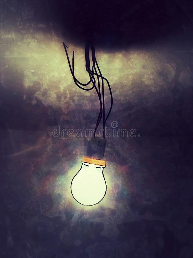 Lightbulb. Electric light bulb representing concepts such as ideas, innovation, progress and electricity stock illustration