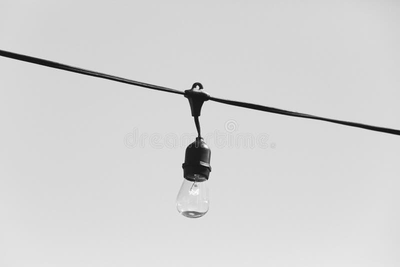 Καλώδιο Lightbulb στοκ φωτογραφία
