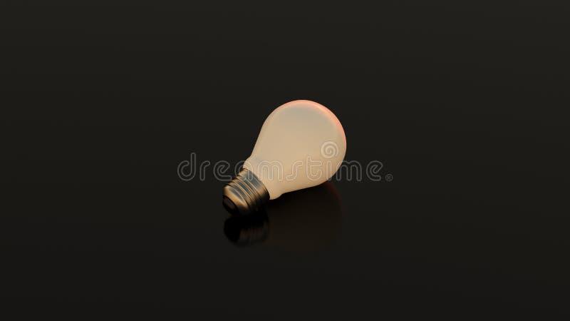 Απομονωμένο lightbulb στοκ φωτογραφία με δικαίωμα ελεύθερης χρήσης