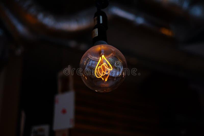 Τρύγος lightbulb στοκ φωτογραφία