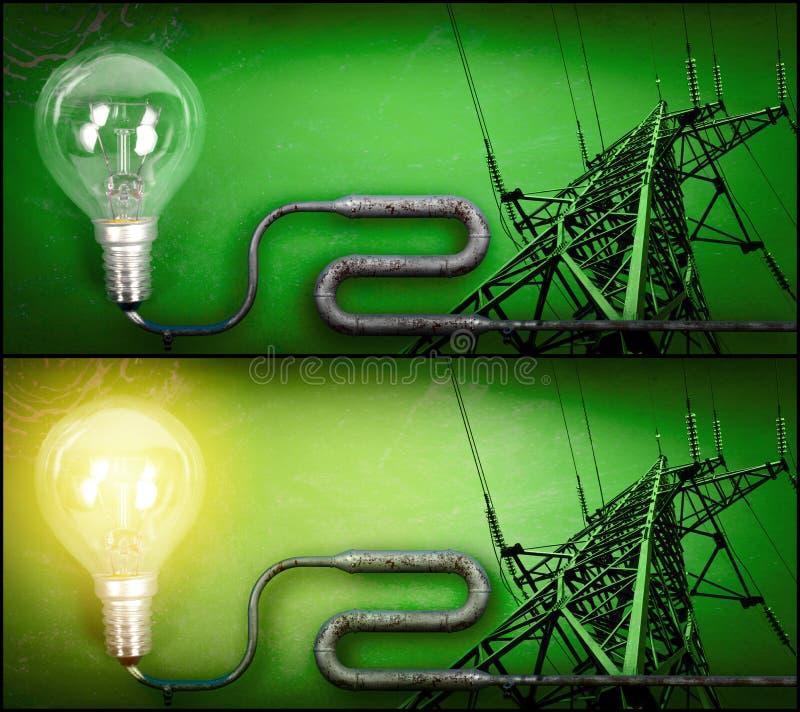 Free Lightbulb And Electricity Pylon Royalty Free Stock Photo - 22489325