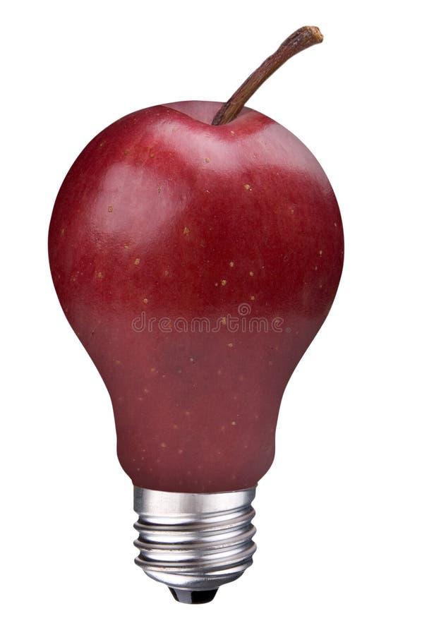 Free Lightbulb Apple Stock Photography - 9292832