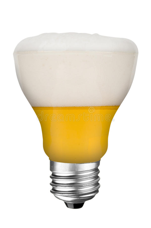 Download Lightbulb beer stock image. Image of part, booze, isolated - 12691347