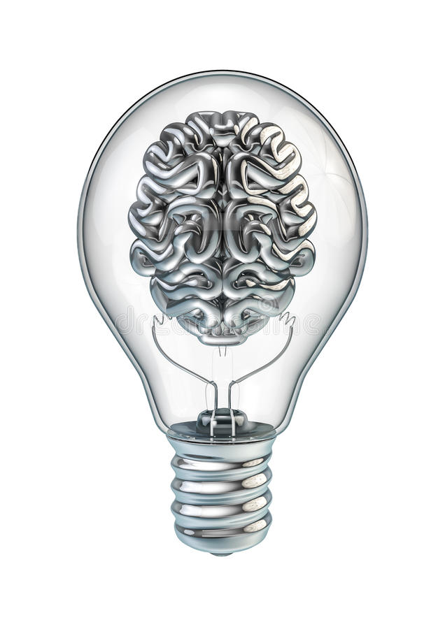 Download Lightbulb brain stock illustration. Illustration of idea - 30648223