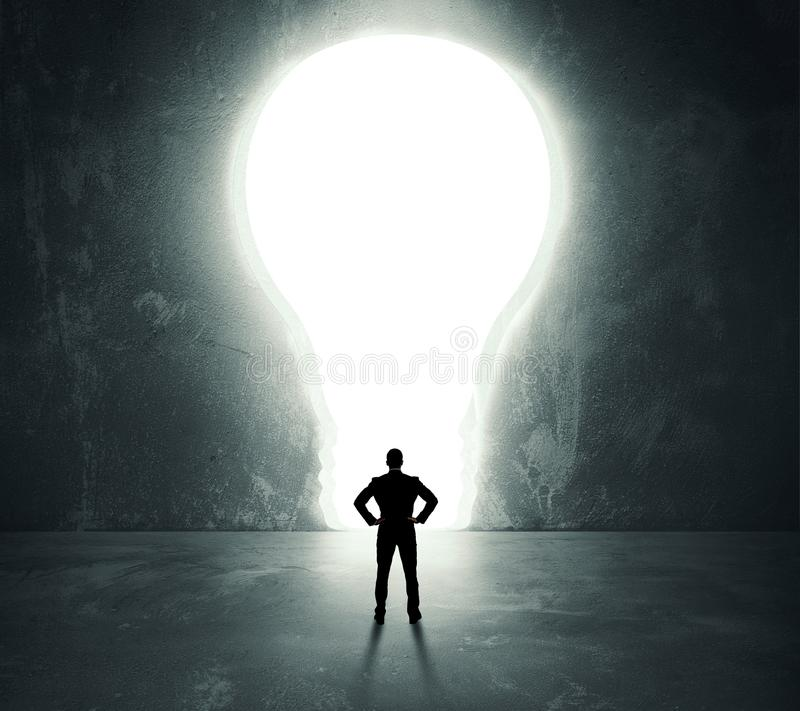 Lightbulb door stock photography