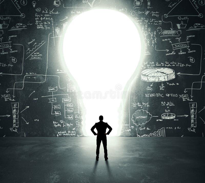 Lightbulb drzwi zdjęcia royalty free