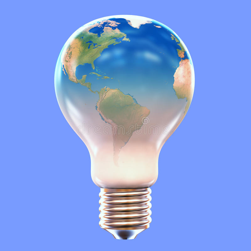 Download Lightbulb Earth stock illustration. Image of concepts - 34161162