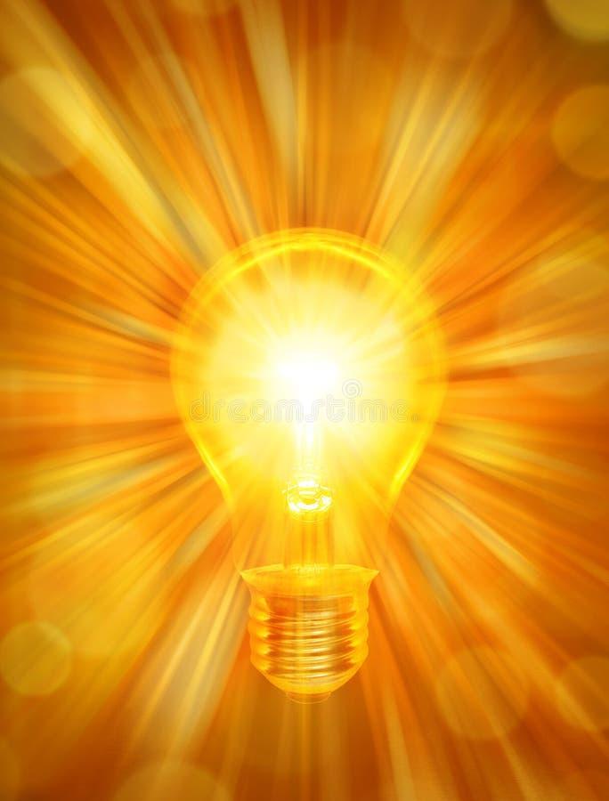 Lightbulb Energy Background stock illustration