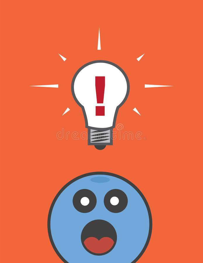 Download Lightbulb Exclamation Mark stock vector. Image of eyes - 35702077
