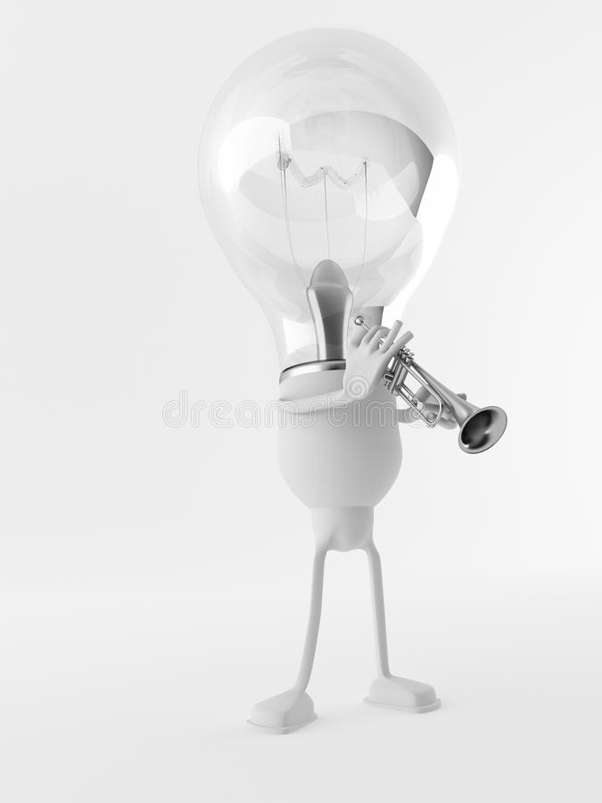 Free Lightbulb Figure And Trumpet Stock Photos - 23731653