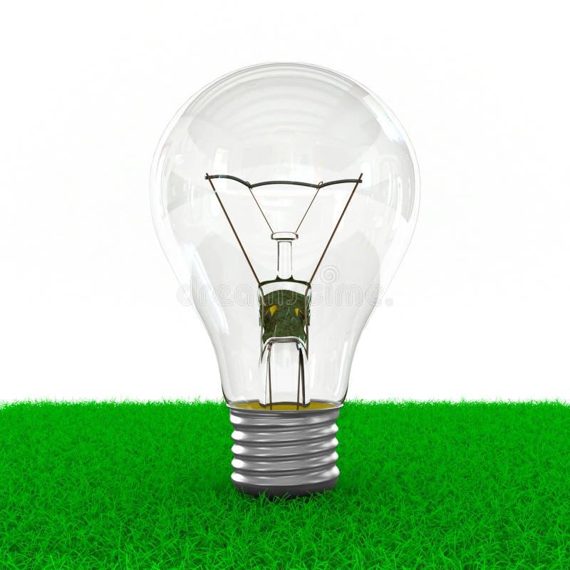 Lightbulb het groeien binnen op gebied royalty-vrije illustratie