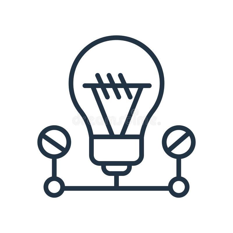 Lightbulb ikony wektor odizolowywający na białym tle, Lightbulb znak ilustracji