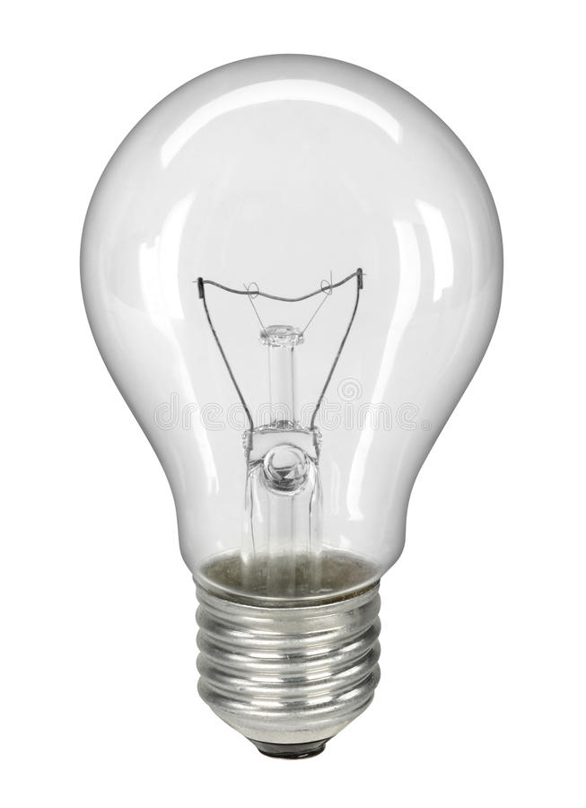 Lightbulb isolated on white - with clipping path royalty free stock images
