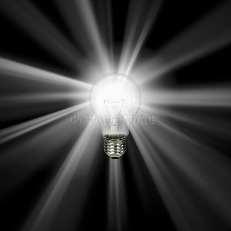 Lightbulb Isolated On White - With Clipping Path Royalty Free Stock Photos