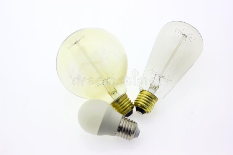Lightbulb lampy światło obraz stock