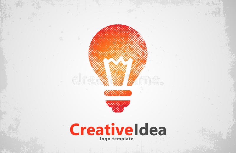 Lightbulb logo template. icon. Abstract . Creative vector illustration