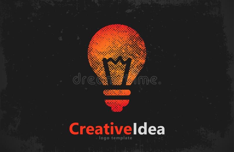 Lightbulb logo template. icon. Abstract . Creative vector illustration