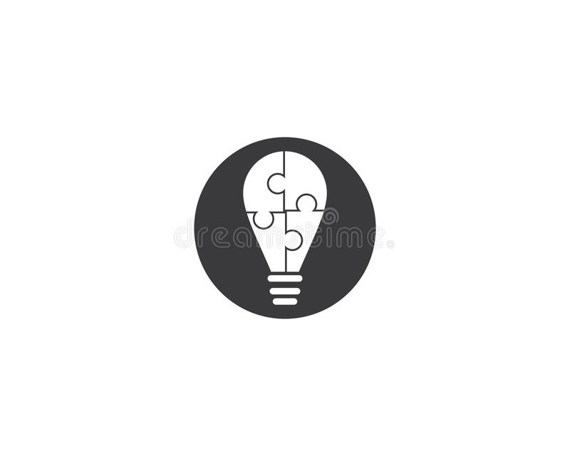Lightbulb logo template stock illustration