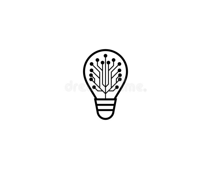Lightbulb logo template vector icon royalty free illustration