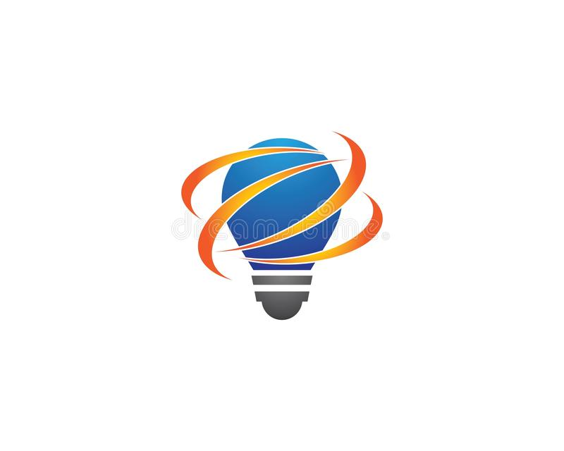 Lightbulb logo template vector icon vector illustration