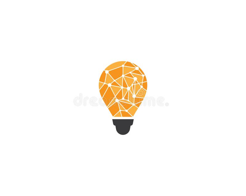 Lightbulb logo template vector icon stock illustration
