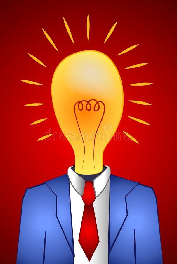 Free Lightbulb Man Thinking Ideas Stock Photography - 2257982