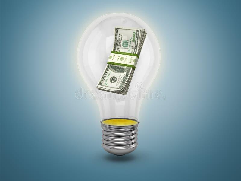 Lightbulb med royaltyfri bild