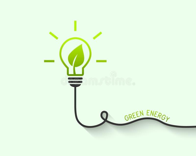 Lightbulb met binnen blad royalty-vrije illustratie