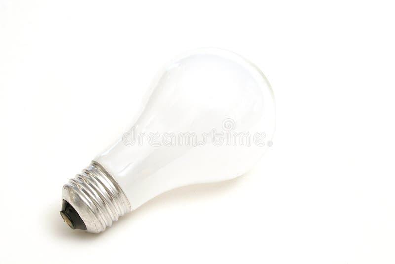 Lightbulb na bielu obraz stock