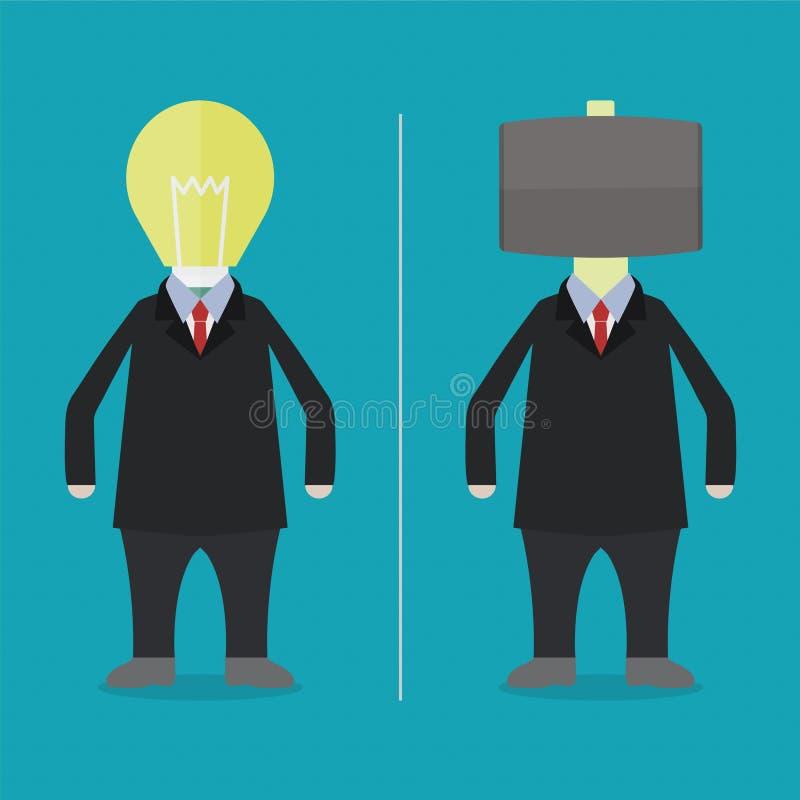 Lightbulb och hammare vektor illustrationer