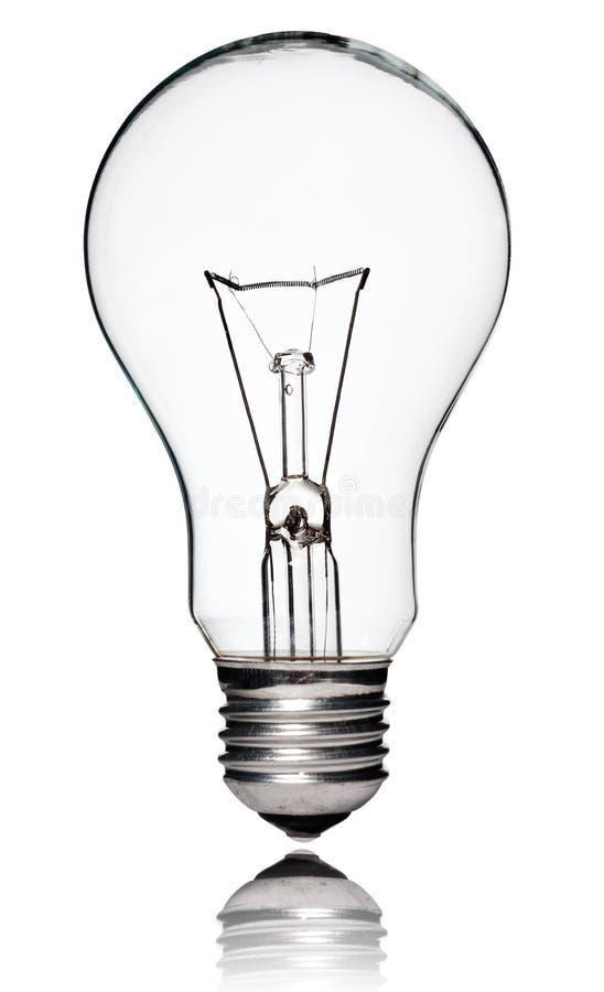 lightbulb odosobniony biel zdjęcie stock